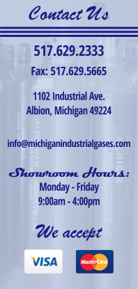 Contact Michigan Industrial Gases in Albion MI